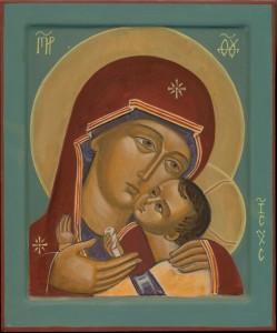 Christ et Mere de Dieux petits