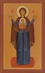 Mère de Dieu (en pieds)